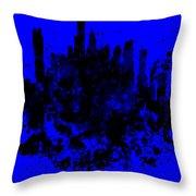 Boston Skyline Paint Splash 2 Throw Pillow