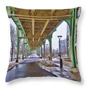 Boston Streetcar Overpass Throw Pillow