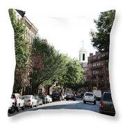 Boston Streetscene  Throw Pillow