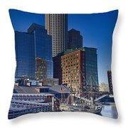 Boston-teaparty Throw Pillow