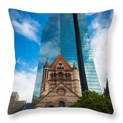 Boston Trinity Church Throw Pillow