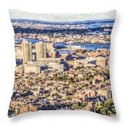 Boston Usa Elevated View Throw Pillow