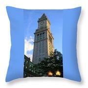 Boston Waterfront District 3527 Throw Pillow