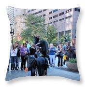 Bostonian Antics Throw Pillow