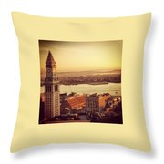 Boston's Custom House Throw Pillow
