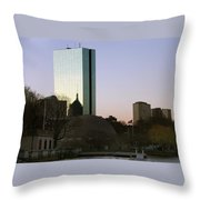 Bostons John Hancock Tower Massachusetts Throw Pillow