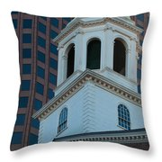 Boston's North Meeting House Throw Pillow