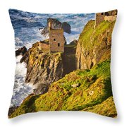 Botallack Throw Pillow by Louise Heusinkveld