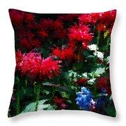 Botanic Garden Abstract Throw Pillow