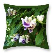 Botanic Garden Flower Throw Pillow