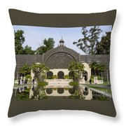 Botanical Building Throw Pillow