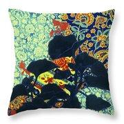 Botanical Klimt Throw Pillow