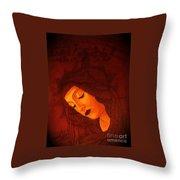Boticelli Madonna Vignette Throw Pillow