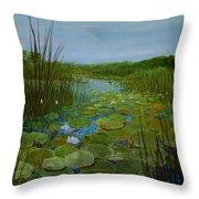 Botswana Lagoon Throw Pillow