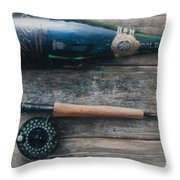Bottle And Rod I Throw Pillow