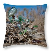 Bottle Bush Throw Pillow