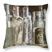 Bottle Collection Throw Pillow