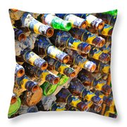 Bottle Color Throw Pillow