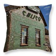 Bottle House Calico California Throw Pillow