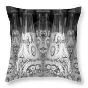 Bottle Line-up Throw Pillow