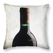 Bottle Of Bordeaux Throw Pillow