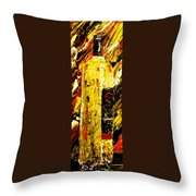 Bottle Of Wine  Throw Pillow
