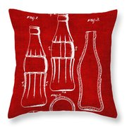 Bottle Support Patent Drawing From 1937 3 Throw Pillow