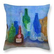 Bottles Collection Throw Pillow