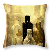 Bottles From The Past Throw Pillow