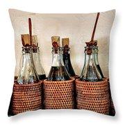 Bottles In Baskets Throw Pillow