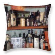 Bottles In General Store Throw Pillow
