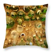 Bottles In The Wall Throw Pillow