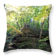 Bottom Of Devil's Punchbowl Wildcat Den Throw Pillow