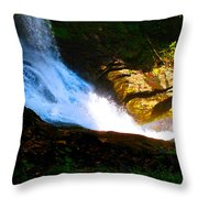 Bottom Of Dry Falls I Throw Pillow