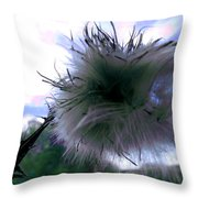 Bottomland Thistle Throw Pillow