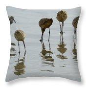 Shorebirds 1 Throw Pillow