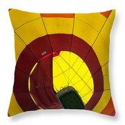 Bottoms Up Hot Air Balloon Throw Pillow