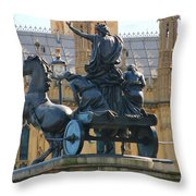 Boudicca Statue And Parliament 5805 Throw Pillow