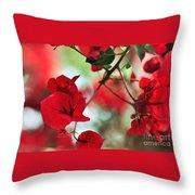 Bougainvillea Beauty Throw Pillow