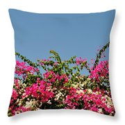 Bougainvillea Flowers Throw Pillow