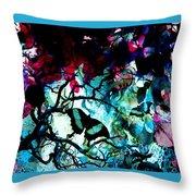 Bougainvillea Moon Throw Pillow