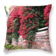 Bougainvillea Wall In San Francisco Throw Pillow