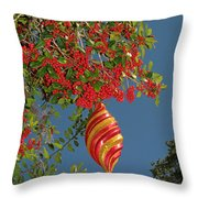 Boughs Of Holly Throw Pillow