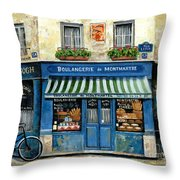 Boulangerie De Montmartre Throw Pillow