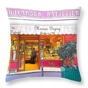 Boulangerie Patisserie In Paris Throw Pillow