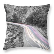 Boulder Canyon Drive And Selective Commute  Throw Pillow