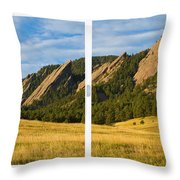 Boulder Colorado Flatirons White Window Frame Scenic View Throw Pillow by James BO  Insogna