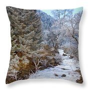 Boulder Creek Winter Wonderland Throw Pillow