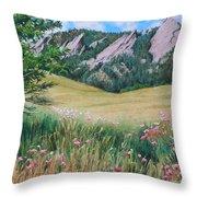 Boulder Flatirons - Chautauqua Study Throw Pillow