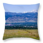 Boulder In The Summertime Throw Pillow